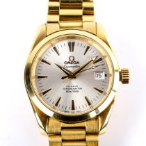 OMEGA - an 18ct gold Seamaster Aqua Terra Co-Axial automatic chronometer bracelet watch, ref. 2104.