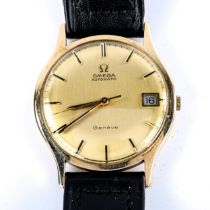 OMEGA -a Vintage 9ct gold Geneve automatic wristwatch, ref. 161/25421, circa 1971, champagne dial