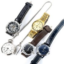 Various wristwatches, including Citizen automatic, Services, Nivada SP etc (5) Lot sold as seen