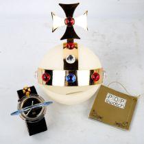 VIVIENNE WESTWOOD for POP SWATCH - a Vintage Orb pop art quartz wristwatch, rim diameter 70mm,