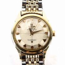 OMEGA - a Vintage gold plated stainless steel 'Pie Pan' Constellation automatic chronometer bracelet