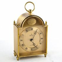 JUNGHANS - a Vintage German brass-cased electronic ato-mat (carriage clock), gilded dial with