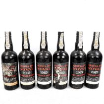 6 Bottles of Quinta Do Noval, 1985 Vintage Port From a local private cellar