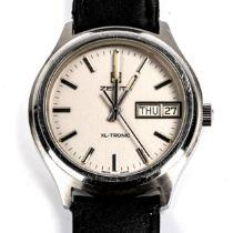 ZENITH - a Vintage stainless steel XL-Tronic quartz wristwatch, ref. 01.0020.505, circa 1970s,