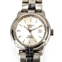 TISSOT - a lady's mid-size stainless steel PR50 automatic bracelet watch, ref. J334/434K, silvered