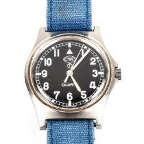 CWC - a stainless steel British Military Issue Army G10 quartz wristwatch, ref. W10/6645-99 5415317,