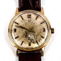 OMEGA - a Vintage gold plated stainless steel Seamaster 600 mechanical wristwatch, ref. 135.011,