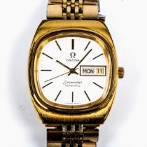 OMEGA - a gold plated stainless steel Seamaster automatic bracelet watch, ref. 166.02.11, circa