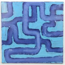 Rob Davis (born 1970), oil on canvas, synthetic/organic 2007, inscribed verso, 40cm x 40cm, unframed