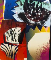 Carl Rowe, pair of colour screenprints, the typhoon and the luconer, signed in pencil, no. 14/16,
