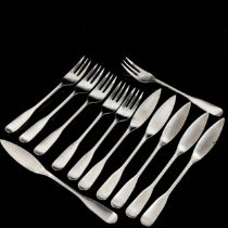 ROBERT WELCH for Old Hall, a Windrush stainless steel boxed set of 6 fish knives and forks Box has