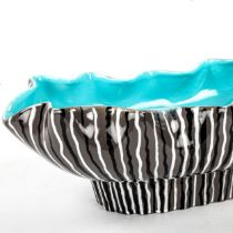 ALBERT HALLAM, & COLIN MELBOURNE, a Beswick pottery wavy-edged elongated fruit bowl or planter,