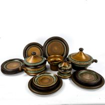 GOEBEL OPM WALLIS, German, a 1970s part dinner service, including 2 tureens (18) Most pieces in good