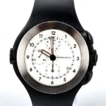MANDARINA DUCK, chronograph watch, with steel bezel and rubber strap Good condition, good working