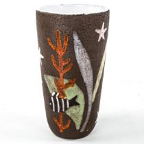 ANNA LISA THOMSON for Upsala-Ekeby, Havsflora vase no. 1021B circa 1950, height 22cm Good condition