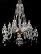 A twelve-light chandelier