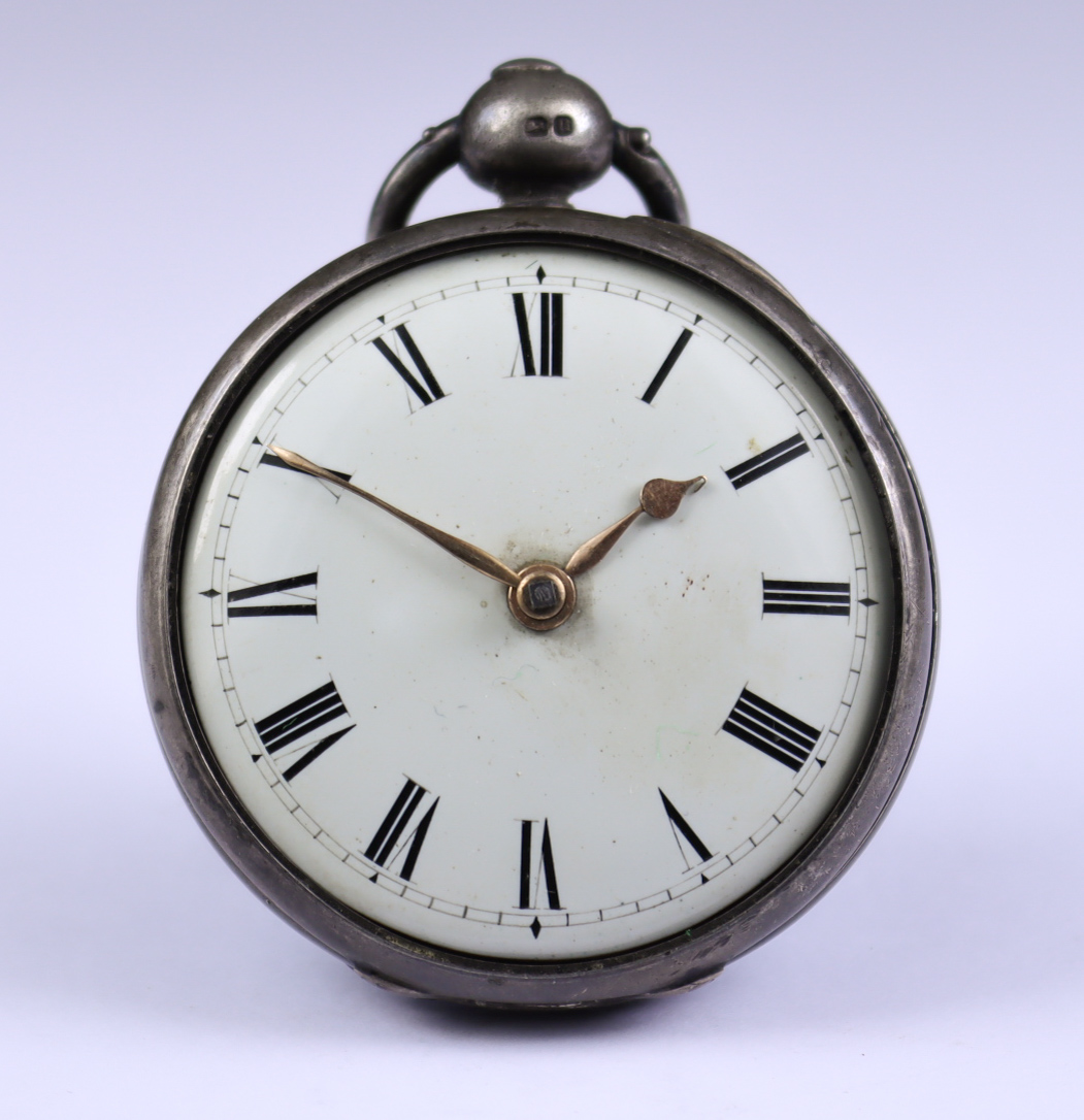 Two Silver Cased Fusee Lever Pocket Watches, comprising - one by Henry Stewart, York, 1828, 47mm