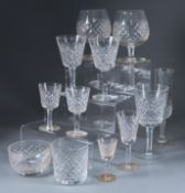 A Waterford Cut Glass 'Alana' Pattern Part Table Service, 49 pieces