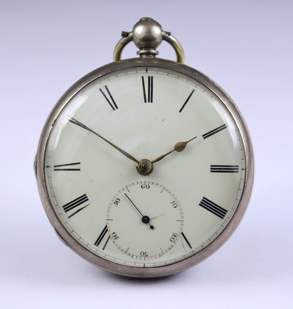 Four Silver Cased Open Faced Pocket Watches, comprising - one unsigned, 1856, 52mm