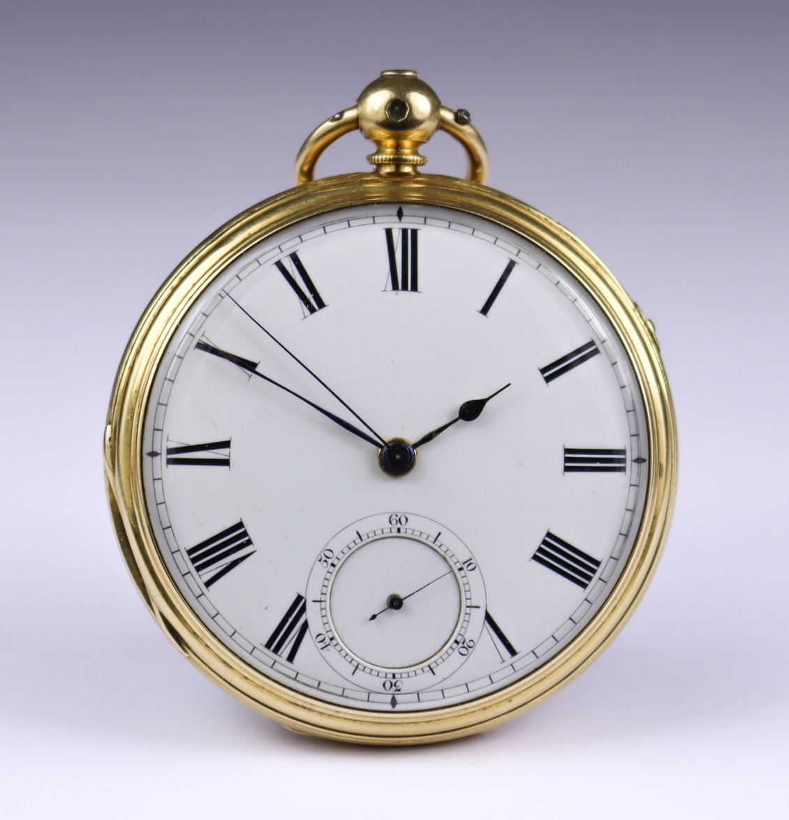 An 18ct Gold Cased Open Faced Fusee Lever Pocket Watch, by J. Newton, Leeds, 1860, 52mm diameter