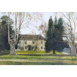 """George Willis-Pryce (1866-1949) - Two oil paintings - """"Abercynrig-Brecknock"""" - View of the house,"""