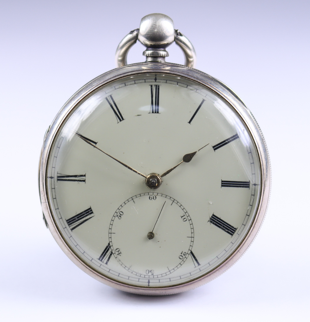 A Silver Cased Open Faced Fusee Lever Pocket Watch, by C.J. Thelwall, Manchester, 1860, 53mm