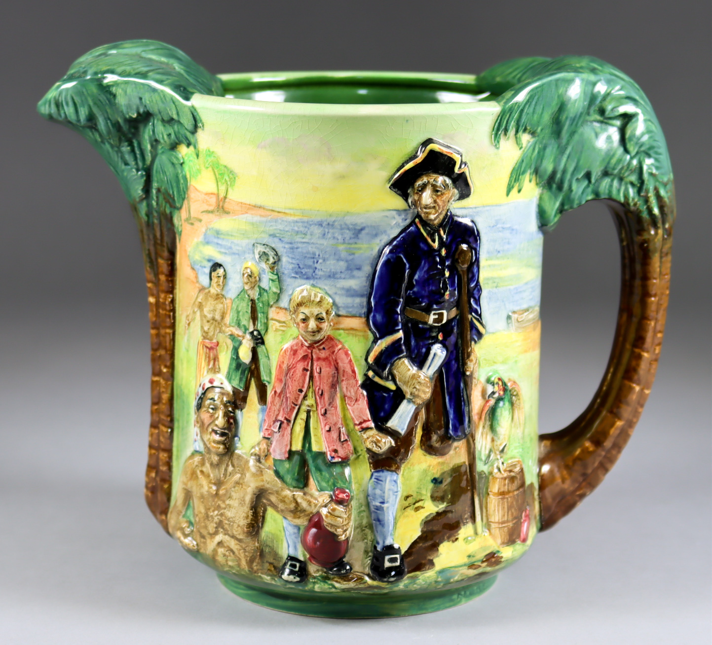 A Royal Doulton Pottery Treasure Island Jug, No. 48 of 600, Introduced in 1934, modelled by