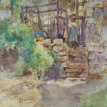 """Onorato Carlandi (1848-1939) - Watercolour - """"Fiuggi"""" signed and inscribed 'Fiuggi/O Carlandi"""" and"""
