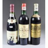 Three Bottles of Wine, comprising - one bottle Chateau Leoville Poyffere, 1972, one bottle Chateau