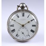 Three Silver Open Faced Fusee Lever Pocket Watches, comprising - one by Edward Hunt, Ipswich,