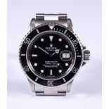 """A Rolex Automatic """"Submariner"""" Oyster Perpetual Chronometer Wristwatch, Circa 1987, stainless"""
