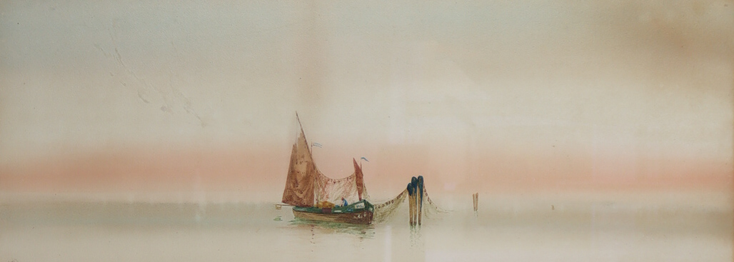 """Augustus Osborne Lamplough (1877-1930) - Pair of watercolours - """"Venice and Campanile"""" and """" - Image 2 of 2"""