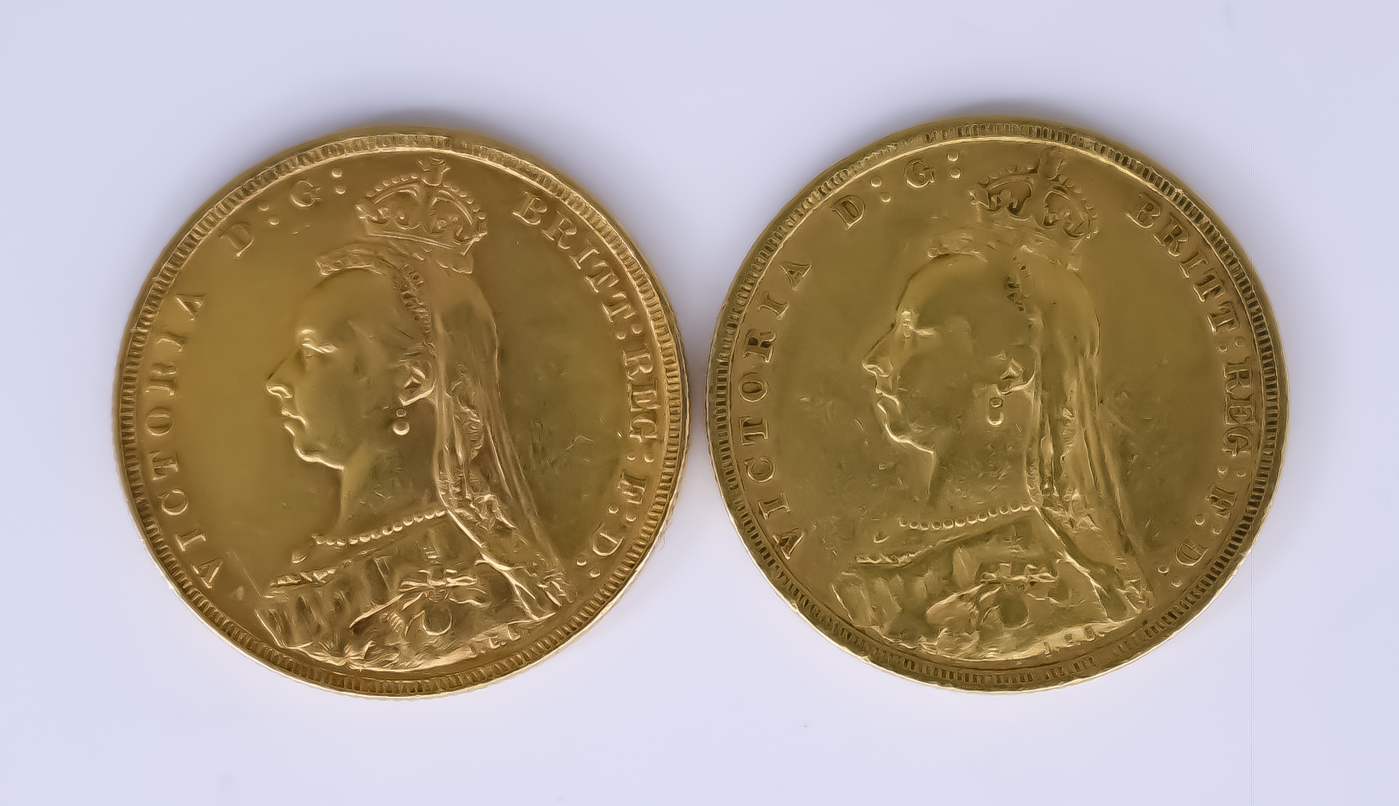 Two Victoria 1887 and 1890 Sovereigns - Image 2 of 2