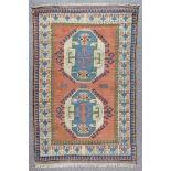 "A Turkish Rug of ""Kazak"" Design and a Bokara Rug of ""Turkmen"" Design, Modern, the Turkish rug"