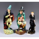 """Three Royal Doulton Pottery Figures - """"Uriah Heep"""" (HN554), 7ins high, """"The Pied Piper"""" (HN2102),"""
