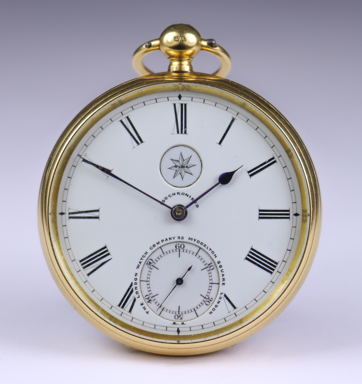 An 18ct Gold Open Faced Fusee Lever Pocket Watch, by The London Watch Company, 35 Myddleton