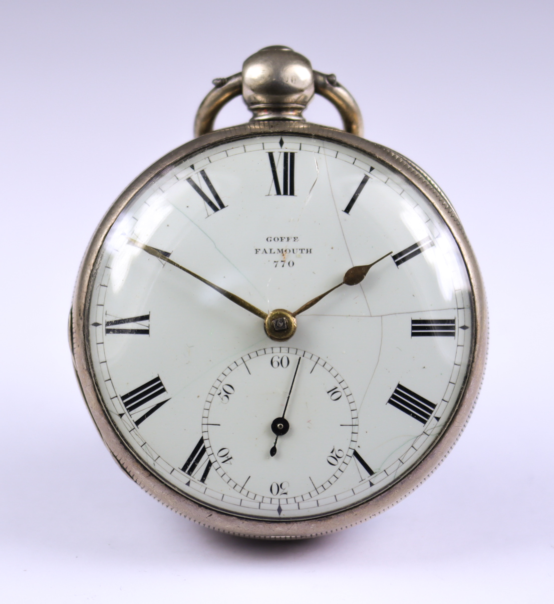 Four Silver Cased Fusee Lever Pocket Watches, comprising - one by Gouffe of Falmouth,1823, 50mm