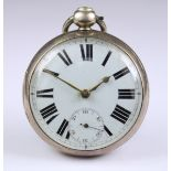 Two Silver Cased Open Faced Fusee Lever Pocket Watches, one by Charles Taylor, Bristol, 1822, 54mm