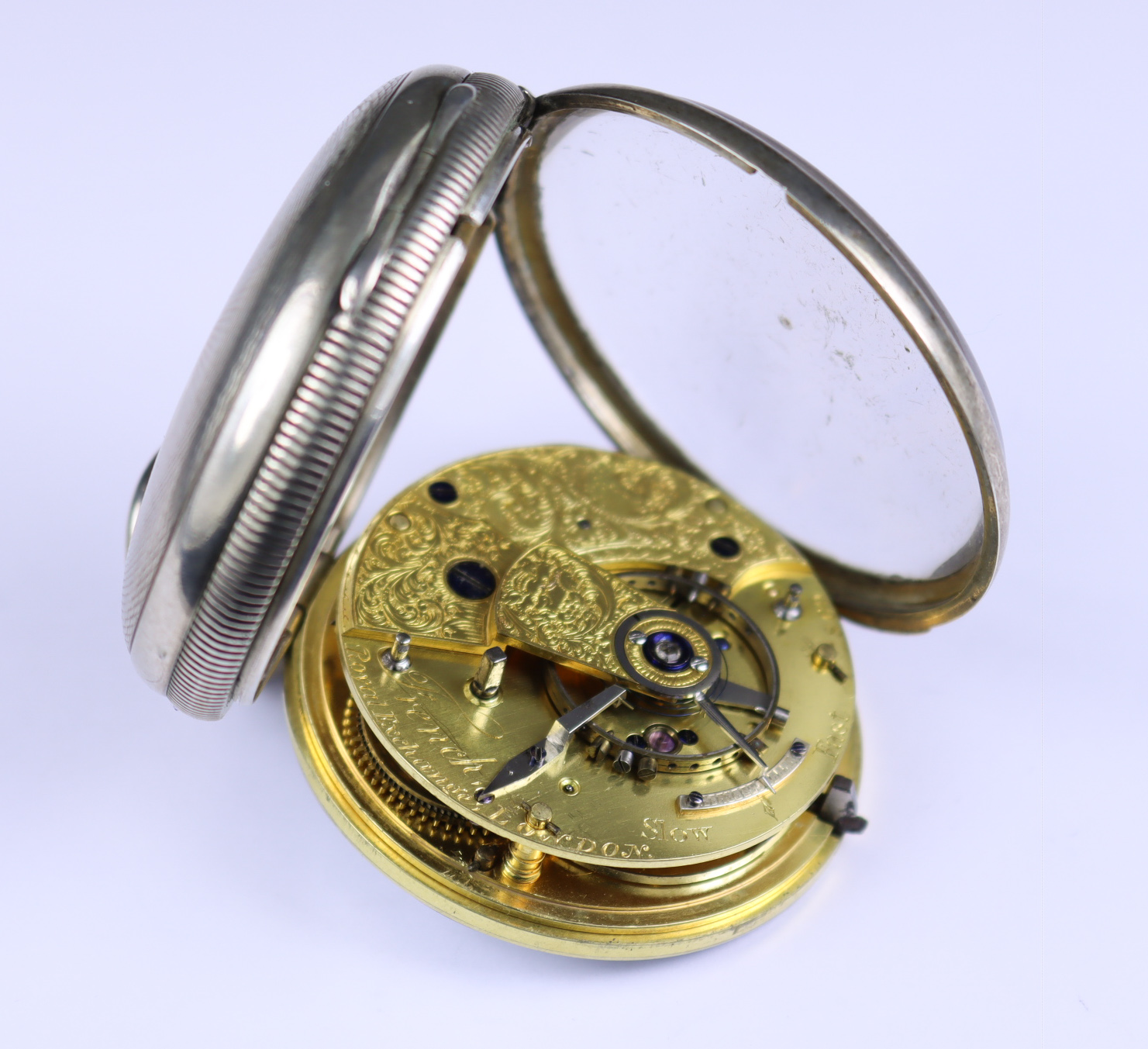 A Silver Cased Open Faced Duplex Pocket Watch, by French, Royal Exchange, London, 1830, 52mm - Image 2 of 2