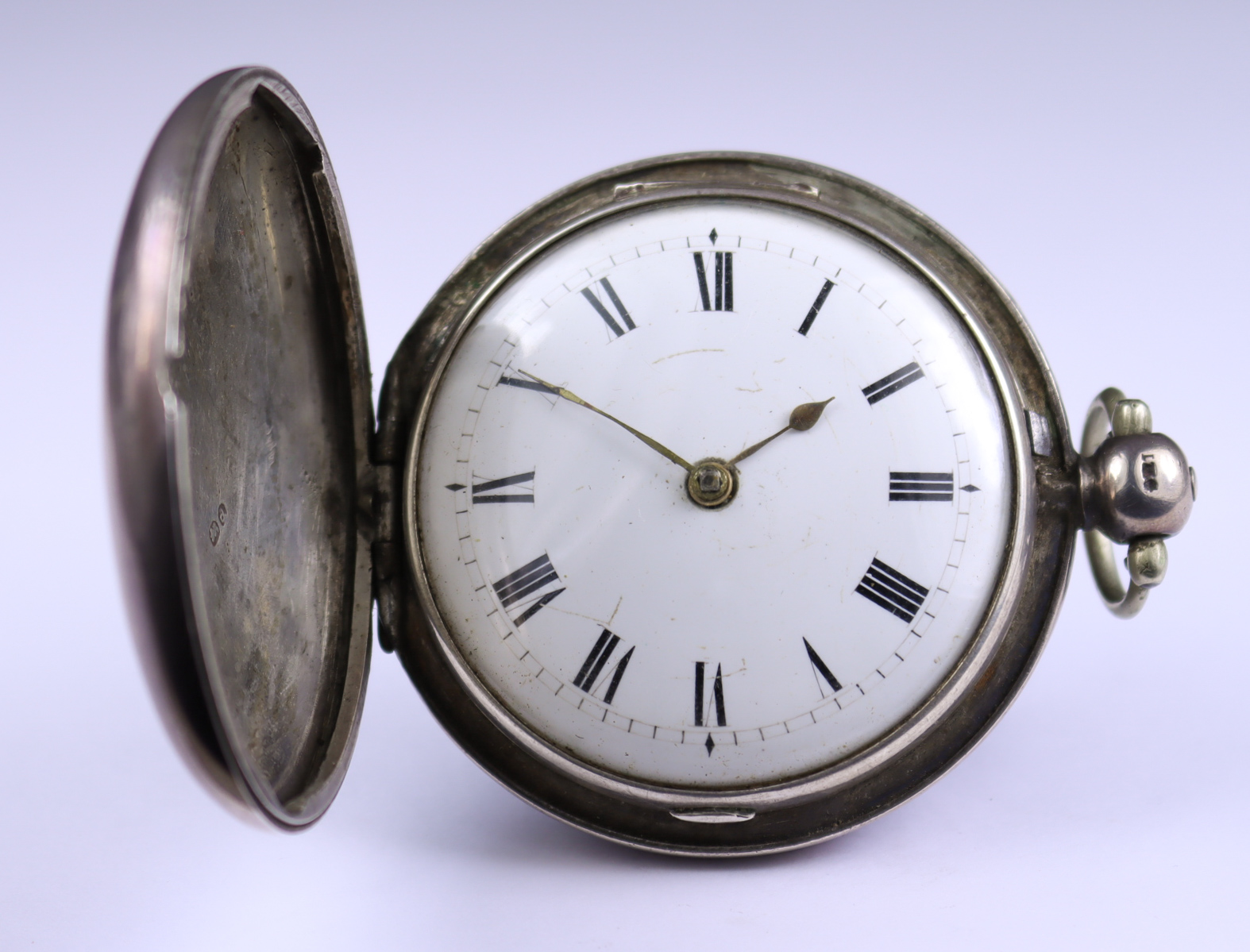 Two Silver Cased Lever Pocket Watches, comprising - one pair cased pocket watch with no makers name,