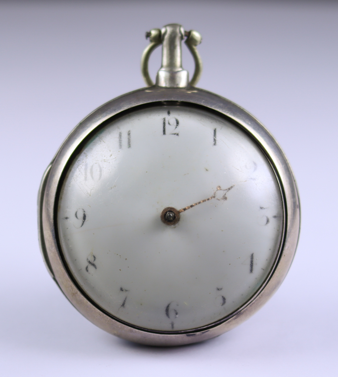 A Silver Cased Open Faced Verge Pocket Watch, by Henry Bonson, 1812, 56mm diameter pair