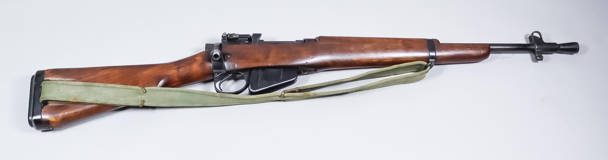 "A .303 Calibre Rifle ""Jungle Carbine"" MKI by Lee Enfield, No 5,1946 , Serial No. 69700, with rare"