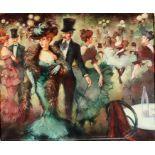 Miguel Ramirez (20th/21st Century School) - Oil painting - An imagined late 19th Century Parisian