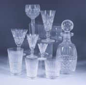 """A Waterford Glass """"Maeve"""" Pattern Part Table Service, 20th Century, the whole with ovoid slice and"""