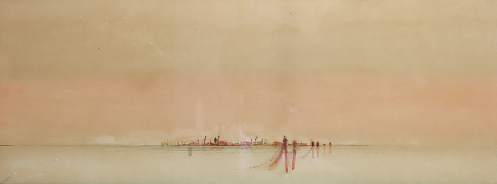 """Augustus Osborne Lamplough (1877-1930) - Pair of watercolours - """"Venice and Campanile"""" and """""""