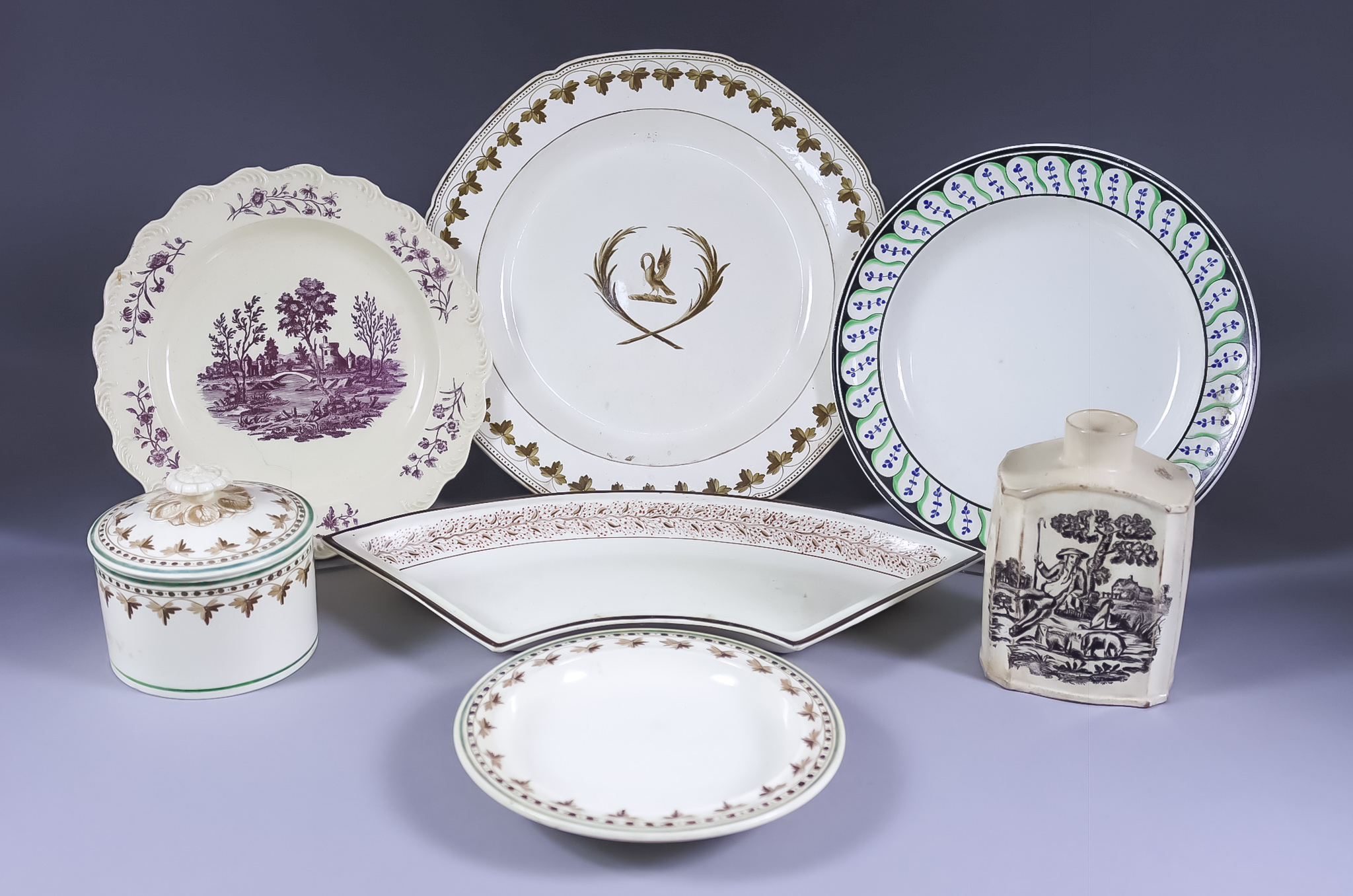 A Small Collection of English Creamware Pottery, Late 18th/Early 19th Century, including - Wedgewood