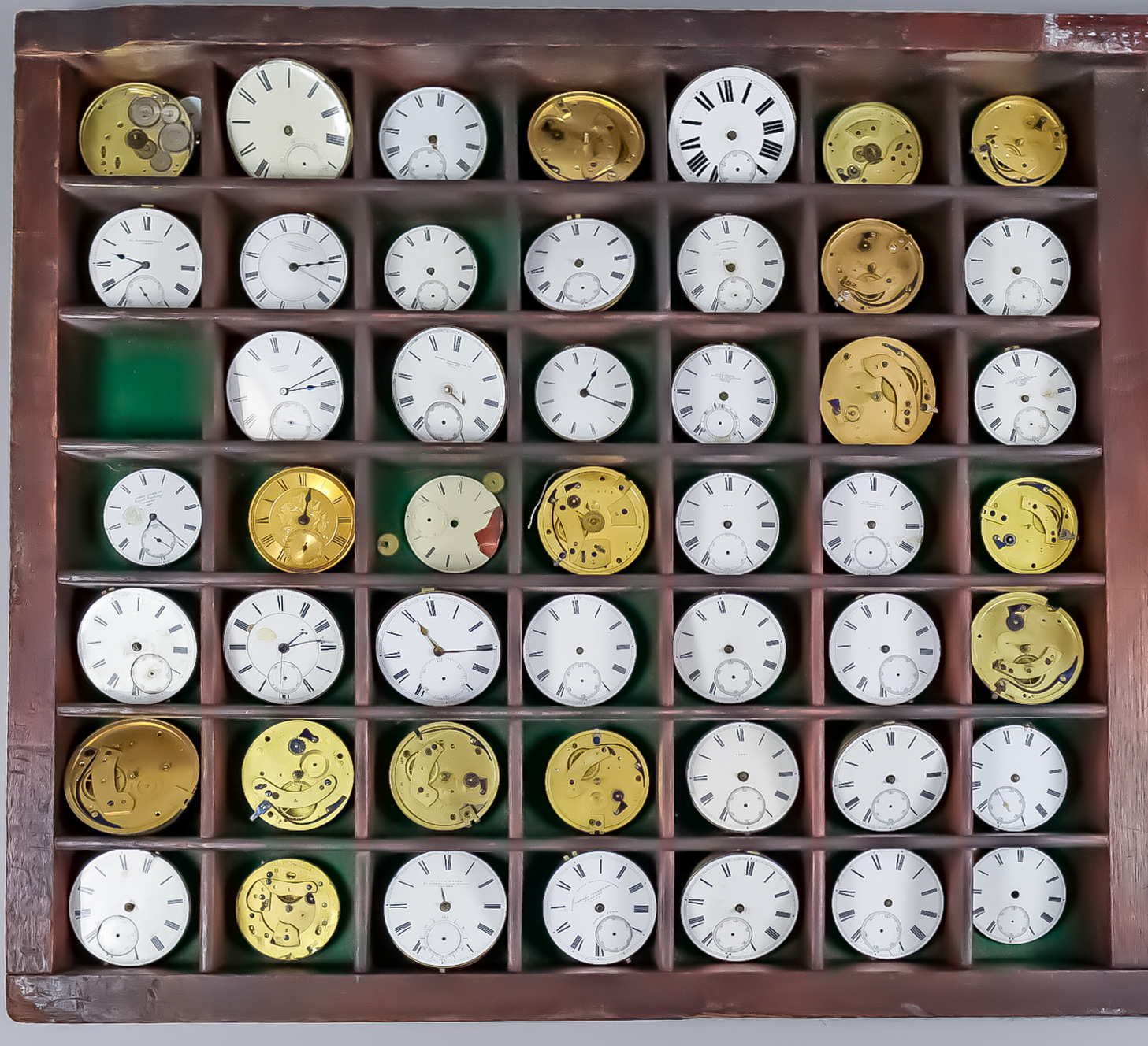 One Hundred and Three Assorted Pocket Watch Mechanisms, various makers and sundry items Note: