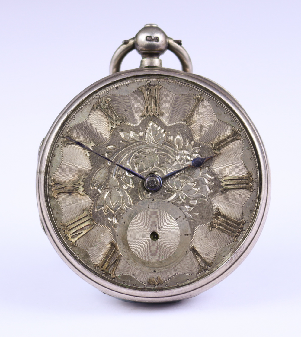 Three Silver Cased Open Faced Fusee Lever Pocket Watches, comprising - one by Hawley, London,