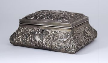 An Edward VII Silver Mounted Rectangular Dressing Table Casket, by William Comyns & Sons, London