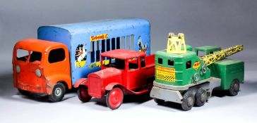 A Triang Tin Plate Large Scale Tipper Truck of Pre War Design, 18.5ins overall, a Triang tin plate